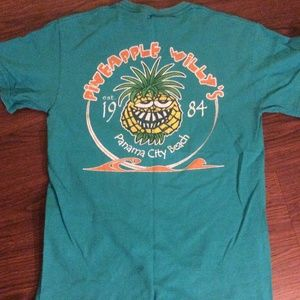 Teal Blue Pineapple Willy's T-Shirt